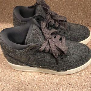 Retro 3 Wool grey...Youth 3.5